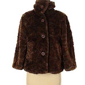 Erin London Brown Faux Fur Jacket